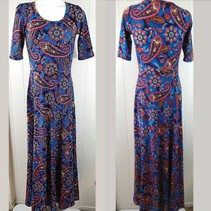 Lularoe Ana Maxi Dress Multi Color Paisley